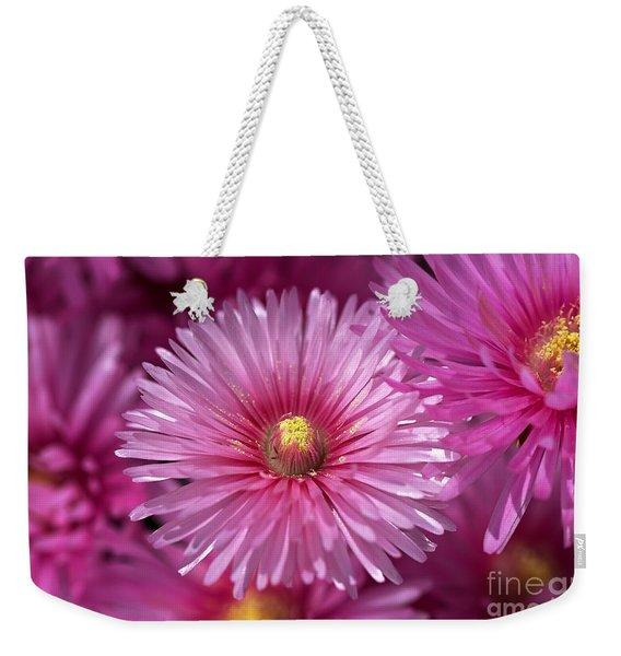Pink Pigface Flowers Weekender Tote Bag