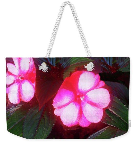 Pink Red Glow Weekender Tote Bag