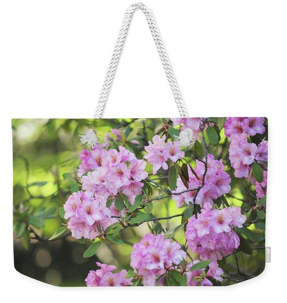Pink Rhododendron Bloom Weekender Tote Bag
