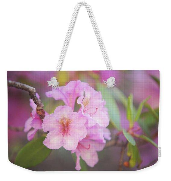 Pink Rhododendron Flowers Weekender Tote Bag