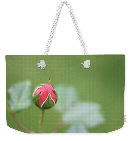 Pink Rose Bud Weekender Tote Bag