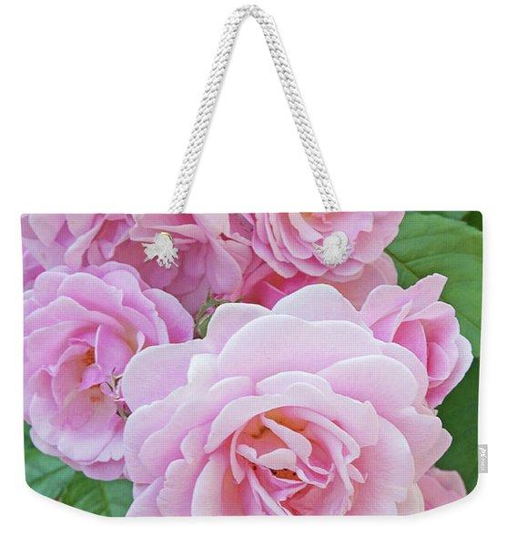 Pink Rose Cluster II Weekender Tote Bag