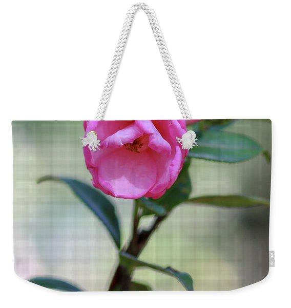 Pink Rose Flower Weekender Tote Bag