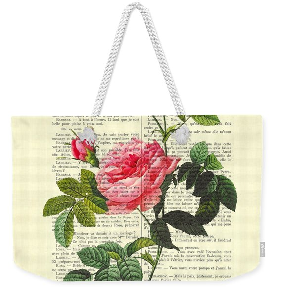Pink Roses, Valentines Gift Weekender Tote Bag