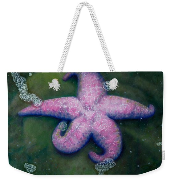 Pink Sea Star And Her Bubble Weekender Tote Bag