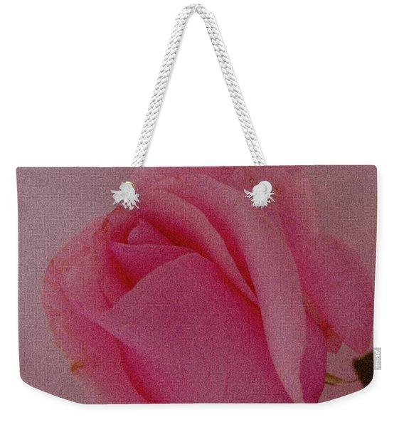 Pink Single Rose Weekender Tote Bag