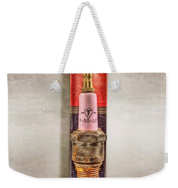 Pink Sparkplug On Box Weekender Tote Bag