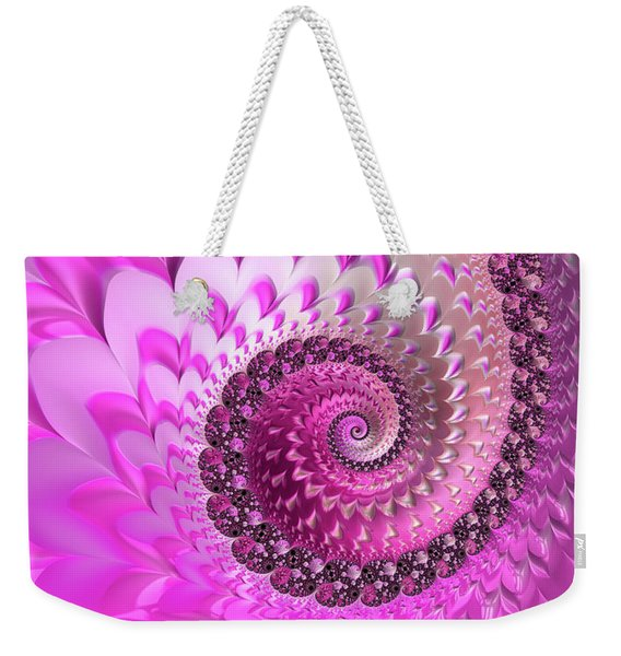 Pink Spiral With Lovely Hearts Weekender Tote Bag