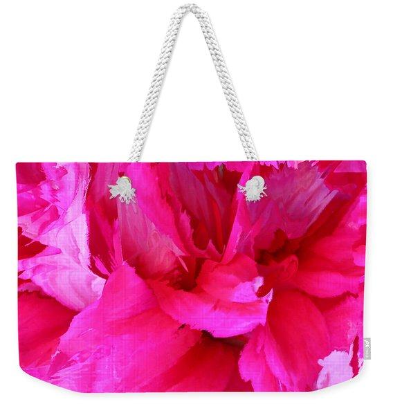 Pink Splash Weekender Tote Bag