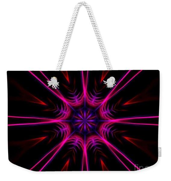 Pink Starburst Fractal  Weekender Tote Bag