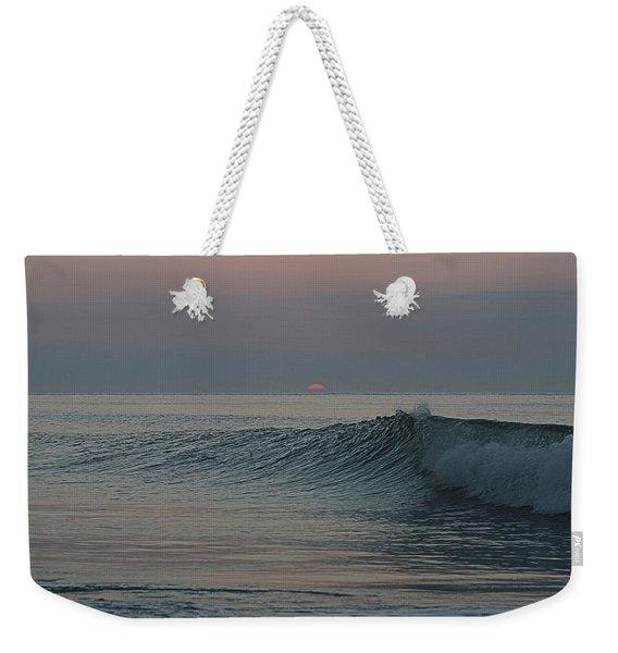 Pink Sun Sunrise Weekender Tote Bag