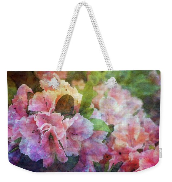 Pink With White Frills 1503 Idp_3 Weekender Tote Bag