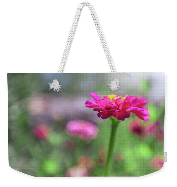 Pink Zinnia Weekender Tote Bag