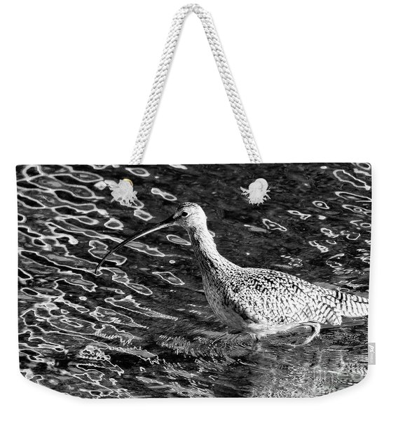 Piper Profile, Black And White Weekender Tote Bag