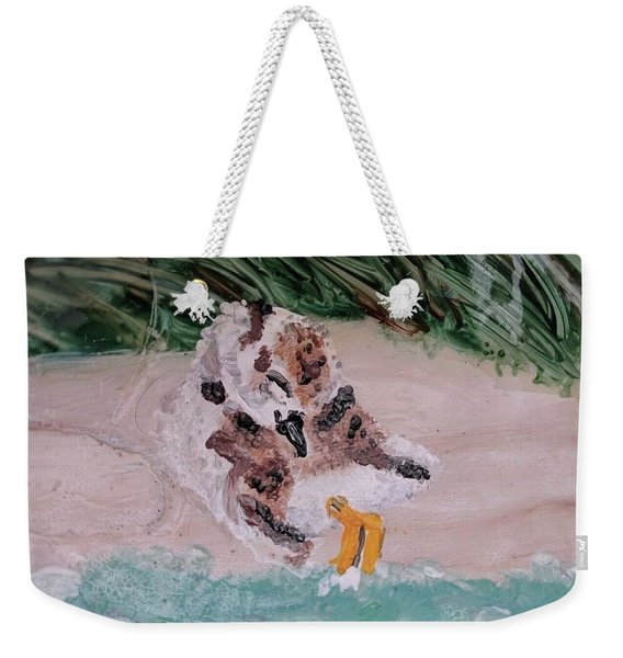 Piping Plover Chick 2 Weekender Tote Bag