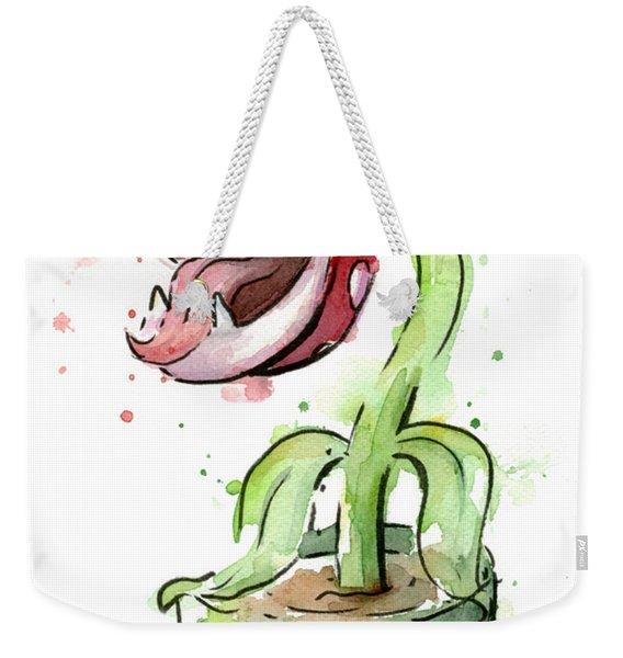 Piranha Plant Watercolor Weekender Tote Bag