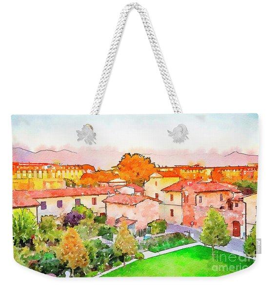 Pisa In Watercolor Style Weekender Tote Bag