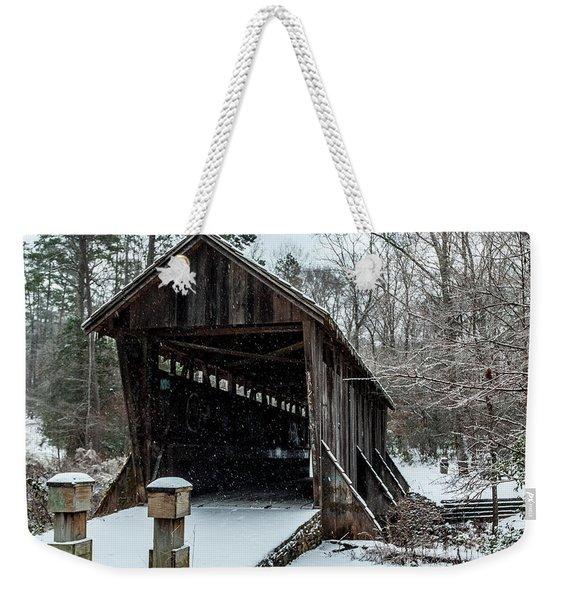 Pisgah Covered Bridge - Modern Weekender Tote Bag