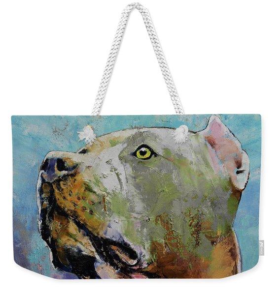 Pit Bull Weekender Tote Bag
