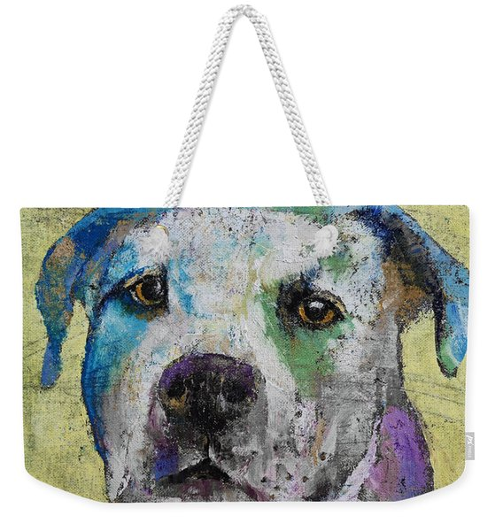 Pit Bull Terrier Weekender Tote Bag