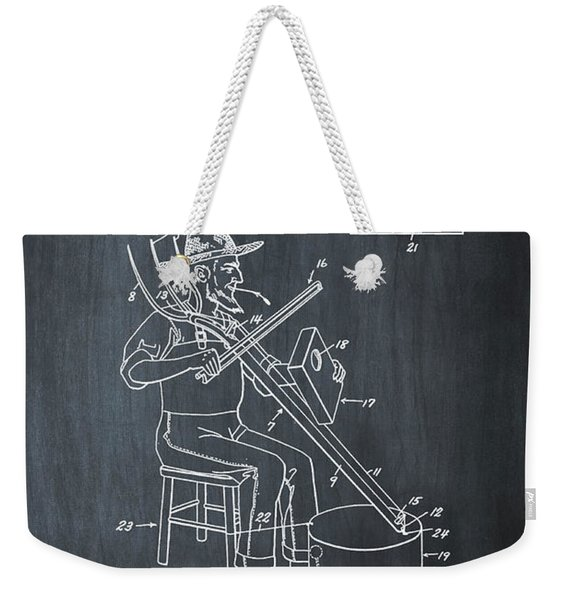 Pitch Fork Fiddle And Drum Patent 1936 - Chalk Weekender Tote Bag