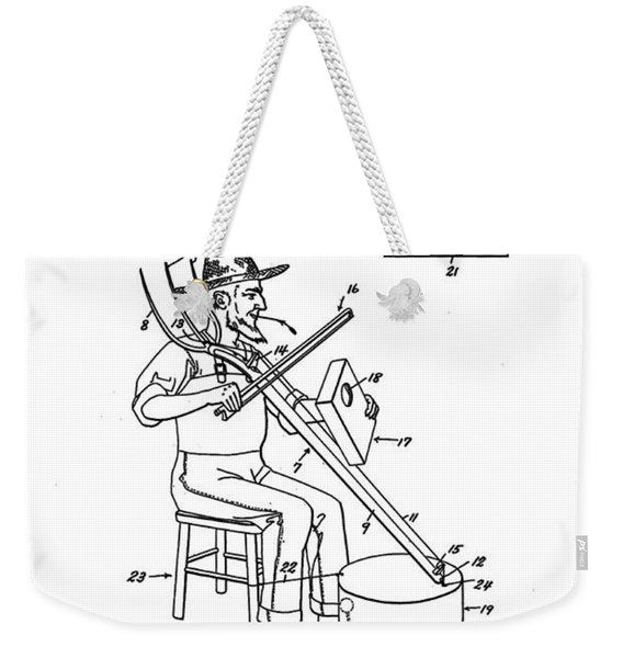 Pitch Fork Fiddle And Drum Patent 1936 - White Weekender Tote Bag