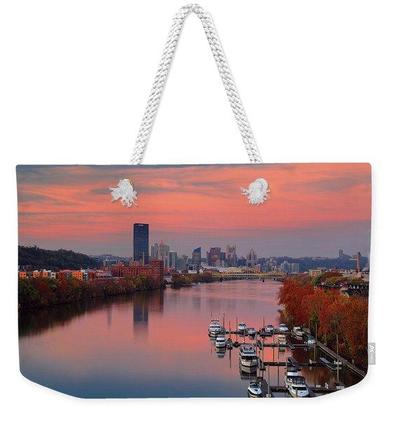 Pittsburgh 31st Street Bridge  Weekender Tote Bag
