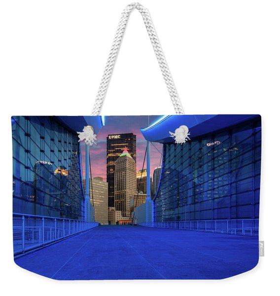 Pittsburgh In Blue  Weekender Tote Bag