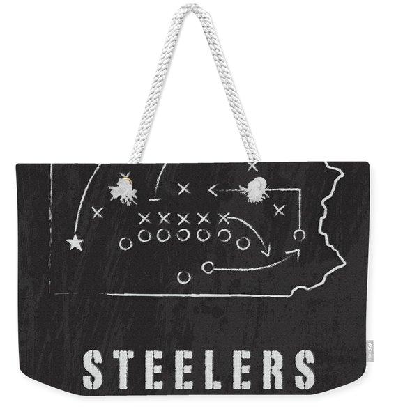 Pittsburgh Steelers Art - Nfl Football Wall Print Weekender Tote Bag