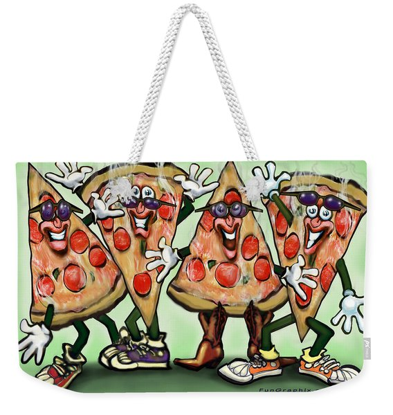 Pizza Party Weekender Tote Bag