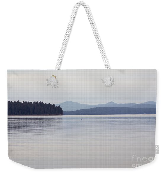 Placid Mountain Lake Weekender Tote Bag