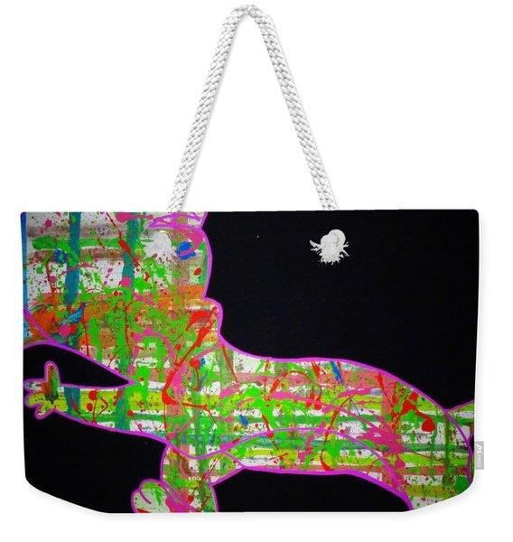 Plaid Weekender Tote Bag
