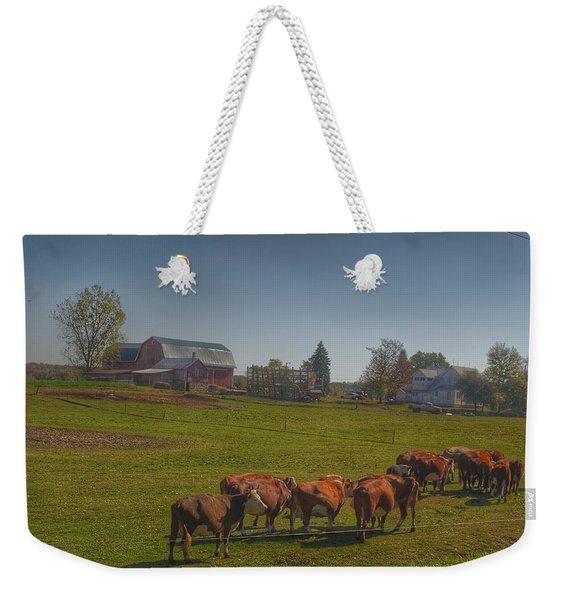 1014 - Plain Road Farm And Cows I Weekender Tote Bag
