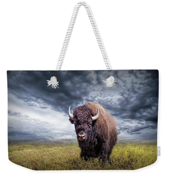 Plains Buffalo On The Prairie Weekender Tote Bag