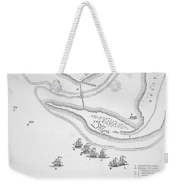 Plan Of The Attack On Sullivan's Island, 1776 Weekender Tote Bag