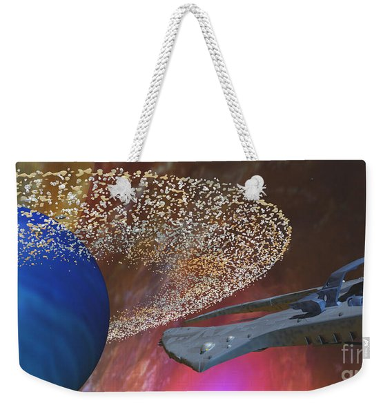 Planet Asteroids Weekender Tote Bag