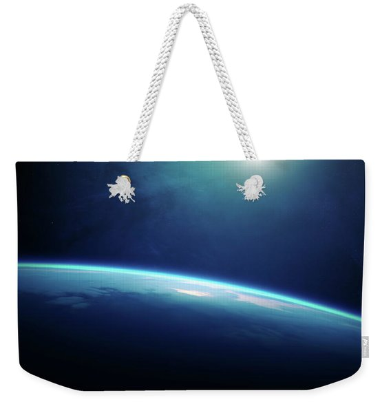 Planet Earth Sunrise From Space Weekender Tote Bag