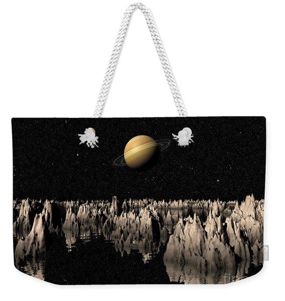 Planet Saturn Weekender Tote Bag