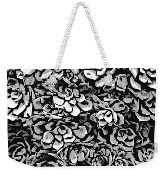 Plants Of Black And White Weekender Tote Bag