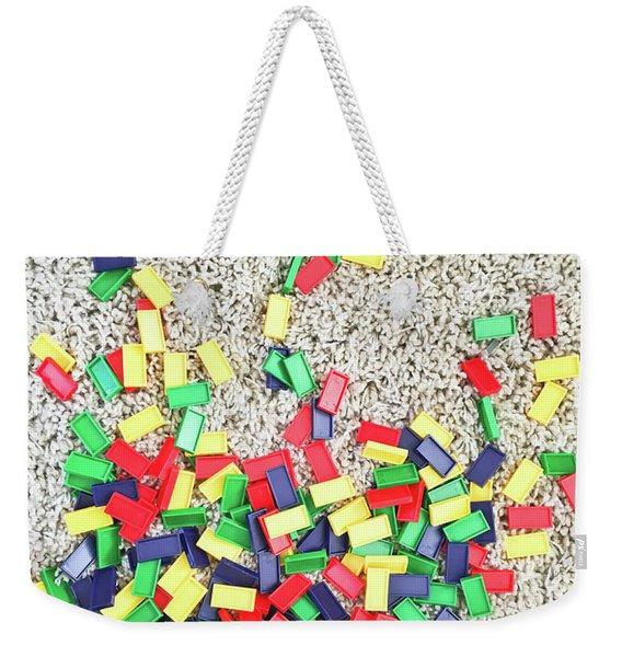 Plastic Rectangles Weekender Tote Bag