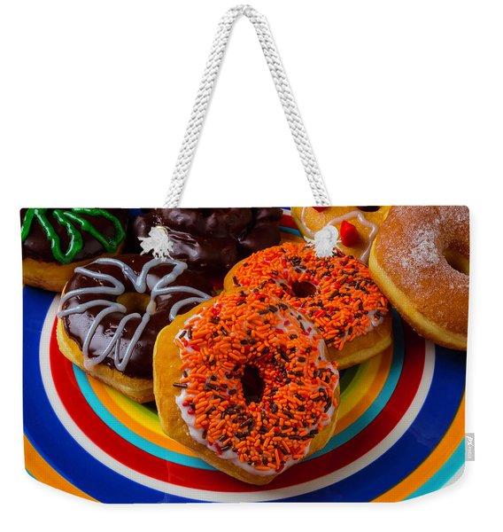 Plate Of Donuts Weekender Tote Bag