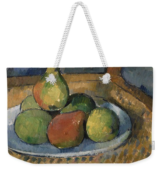 Plate Of Fruit On A Chair Weekender Tote Bag