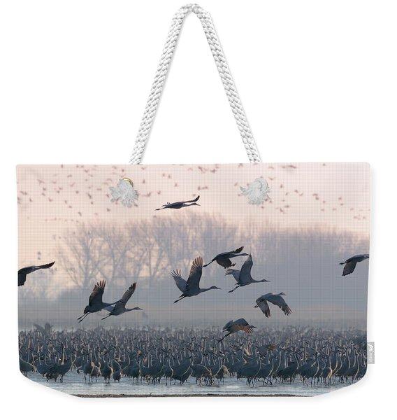 Platte River Morn Weekender Tote Bag