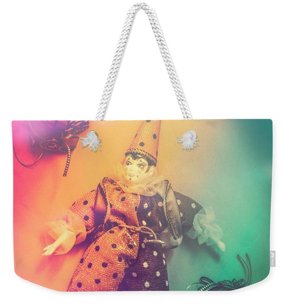 Play Act Of A Puppet Clown Performing A Sad Mime Weekender Tote Bag