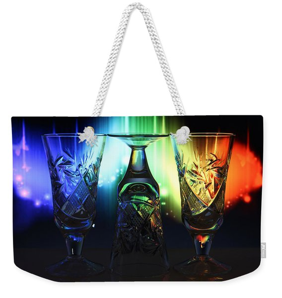Play Of Glass And Colors Weekender Tote Bag