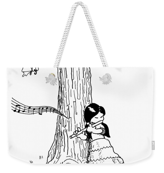Play The Flute Under The Tree Weekender Tote Bag