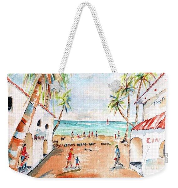 Playa Del Carmen Bright Day Weekender Tote Bag