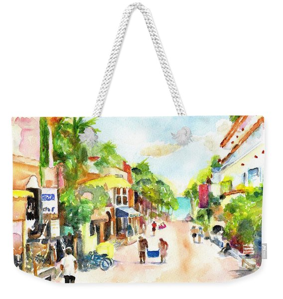 Playa Del Carmen Mexico Shops Weekender Tote Bag