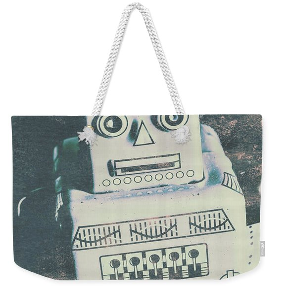 Playback The Antique Robot Weekender Tote Bag