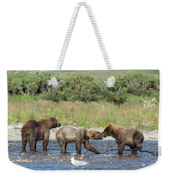 Playful Cubs Weekender Tote Bag